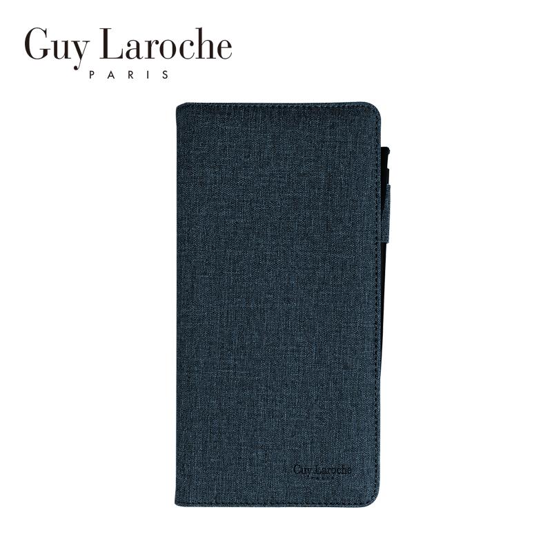 Guy Laroche 여권 바인더 노트 & 펜 세트-블루